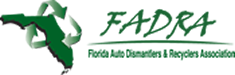 logo for Florida auto dismantlers and recyclers association